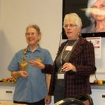 Anita Kruger, Stephanie Harmon and Gail Carter led a holiday grief support group on Nov. 19.