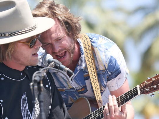 Jamestown Revival performs at the Outdoor Theatre during the Coachella Festival, Saturday April 18, 2015.