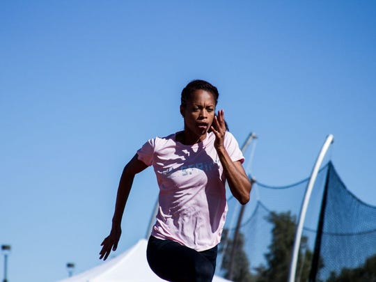 Muna Lee is training at the World Athletics Center