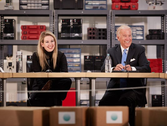 Biden visits Theranos lab as part of healthcare innovation summit