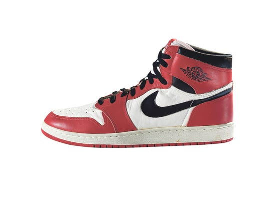 quality design dac8b 14815 Nike Air Jordan I, 1985. (Photo  Ron Wood, Courtesy American Federation of  Arts Bata Shoe Museum)