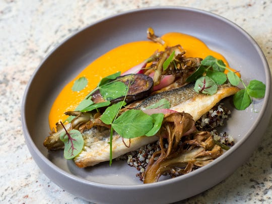 Chef Josh Deri of Blend Catering won for creativity with his branzino in red curry sauce.