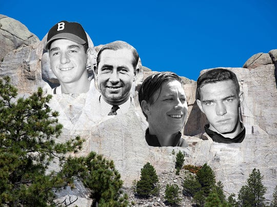 From left, Johnny Antonelli, Walter Hagen, Abby Wambach and Don Holleder make Leo Roth's Rushmore.