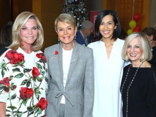 From left: Jan Salta, COD Foundation Board Member Donna MacMillan, COD Rising Start Paulina Larson, and Helene Galen.