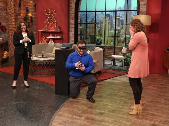 "Acadiana resident Hunter Tribe proposes to his girlfriend Brittney Reed during an episode of ""The Rachael Ray Show"" after seeing her for the first time through eSight glasses."