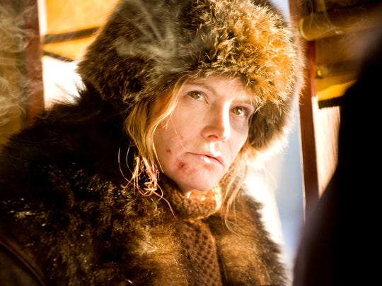 """Jennifer Jason Leigh appears in a scene from """"The Hateful Eight."""""""