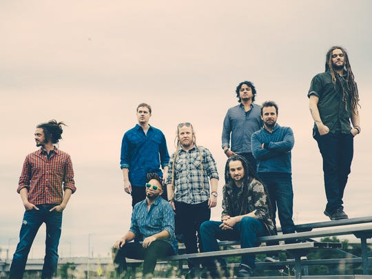SOJA, which includes Delaware native Trevor Young (far right), will perform Monday at Seacrets in Ocean City, Maryland.