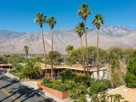 The Steve McQueen house in Palm Springs' Southridge neighborhood, designed by Hugh Kaptur and built in 1964.