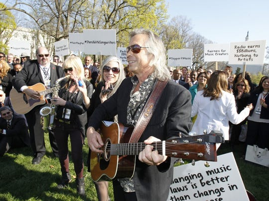 Singer/songwriter Jim Lauderdale participates in The Recording Academy's GRAMMYs on the Hill Advocacy Day at Upper Senate Park on Capitol Hill on April 14, 2016 in Washington, DC. Recording Academy members visited the Hill to discuss updates to music legislation, including copyright reform.