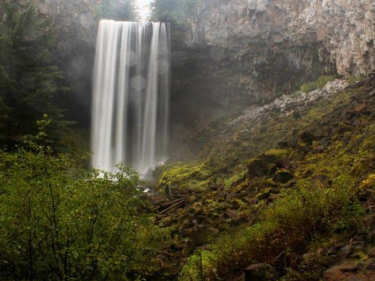 Tamanawas Falls on the east side of Mount Hood.