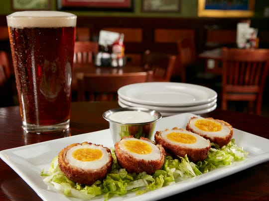 The Scotch eggs from Tilted Kilt.