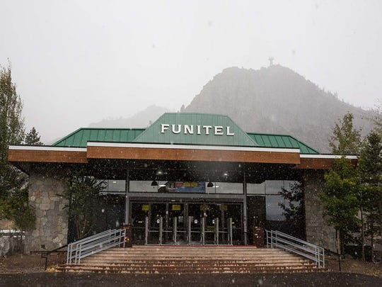 Squaw Valley Alpine Meadows saw its first flurries of snow on Sept. 22 as temperatures fell at the resort.
