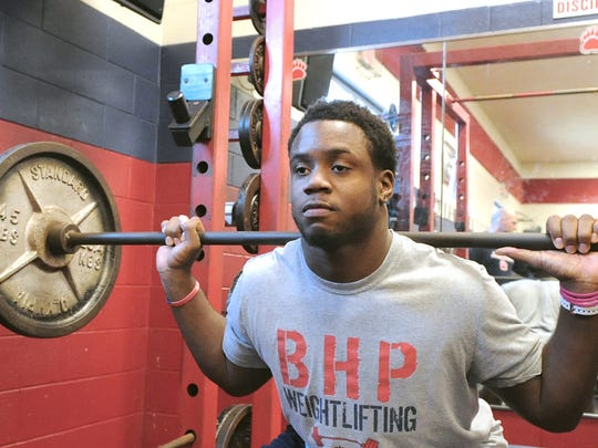 Kendall Joseph was a four-time weightlifting state