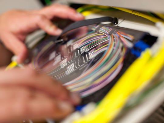 Broadband fiber in Chattanooga, Tennessee.