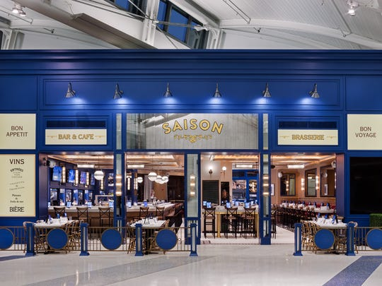 Saison, at Terminal C, offers such French cuisine as steak and fries, cheese plates and croque monsieur.