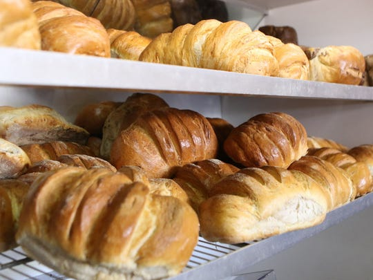 Fresh baked bread is shown at Butterflake  in Teaneck.