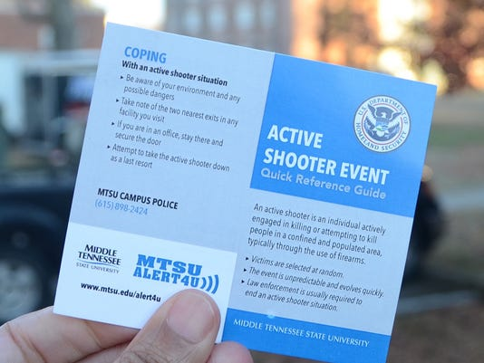 MTSU active shooter guide
