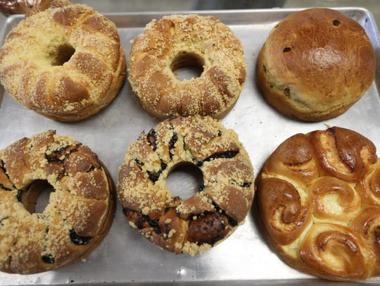 Cheese, prune and raisin babkas are among the most