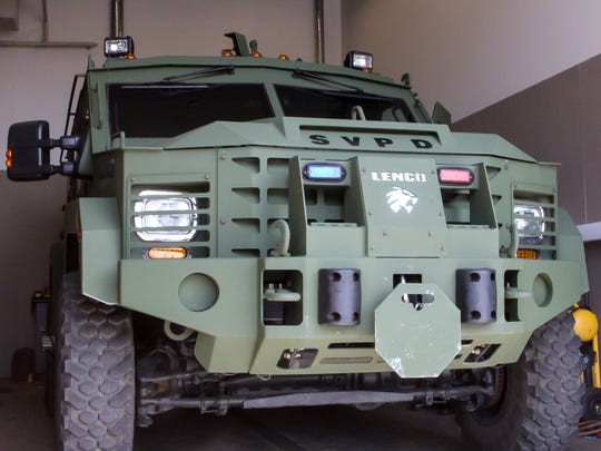 A military-grade armored vehicle owned by the Sierra