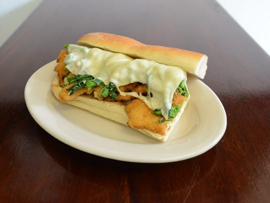 Bogie's Hoagies, a shop owned by Paul Beaugard in Hawthorne, features this sub with chicken cutlet, brocoli rabe and provolone.