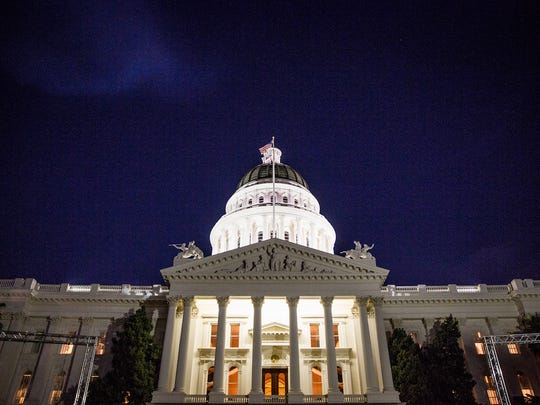 California capitol building in Sacramento.