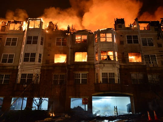 Flames consume the Avalon at Edgewater apartment complex