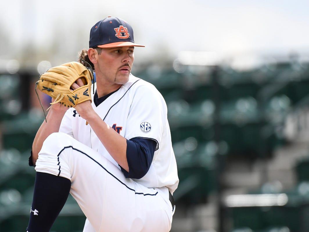 Gabe Klobosits tosses six shutout innings as Auburn defeated UAB 4-0 on March 14, 2017 in Auburn, Ala.