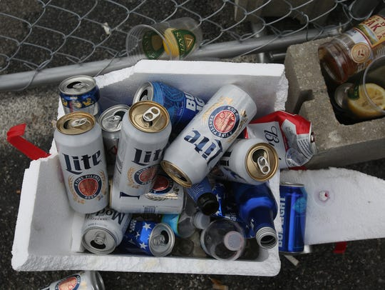FILE IMAGE: Empty beer bottles in coolers