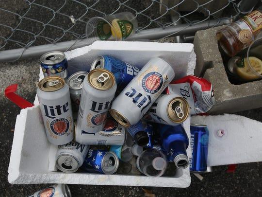 FILE IMAGE: Empty beer bottles in coolers