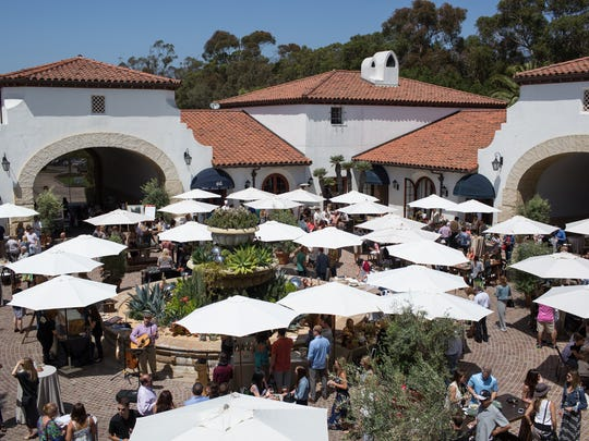 The courtyard at Bacara Resort & Spa in Goleta will