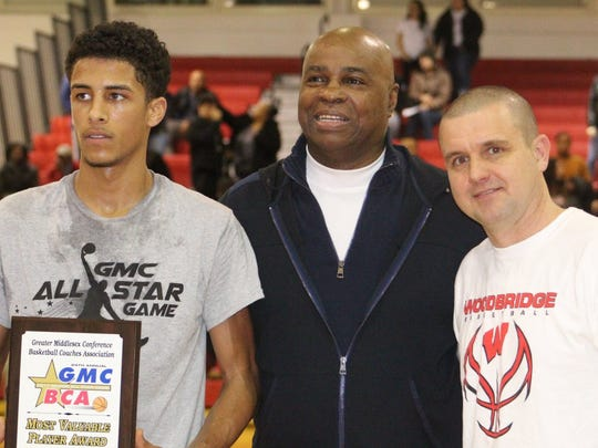 Former Perth Amboy star Brian Taylor, center, will be inducted into the NJSIAA Hall of Fame