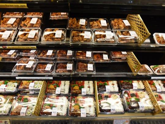 Prepared food at Mitsuwa Marketplace in Edgewater.