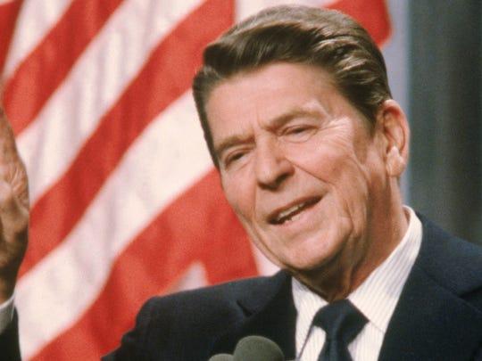 Ronald Reagan, president from 1981-89.