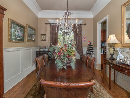 The dining area is large enough for any gathering.