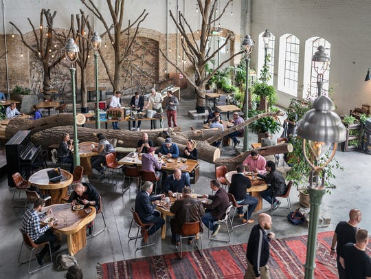 The interior of Stone Brewing's new Berlin location.