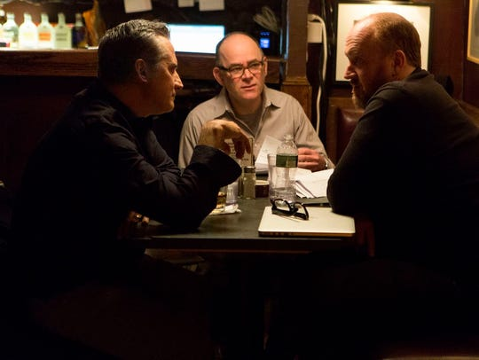 """Todd Barry (center) co-stars in an episode of """"Louie"""""""