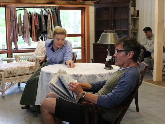 """Kathryn Meisle and Derek Smith rehearse for """"A Long"""