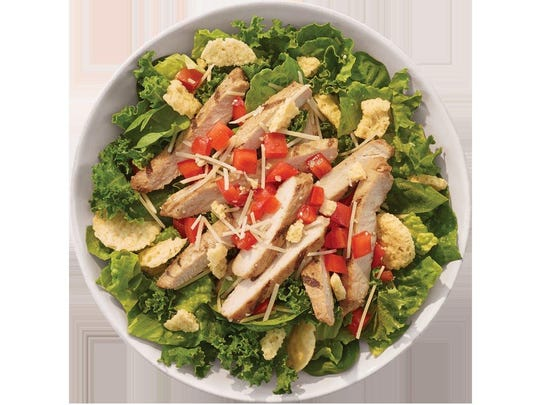 The Super Green Caesar Salad at Tropical Smoothie Cafe