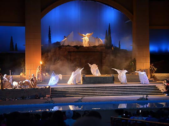 """A dramatic scene from """"The Promise,"""" a presentation of Christ's life that is staged Fridays and Saturdays through Nov. 4."""