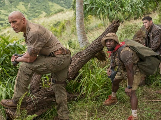 """Dwayne Johnson, Kevin Hart and Jack Black star in """"Jumanji: Welcome to the Jungle."""""""