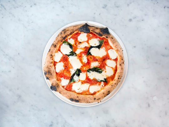 The Margherita pizza at the new MidiCi The Neapolitan