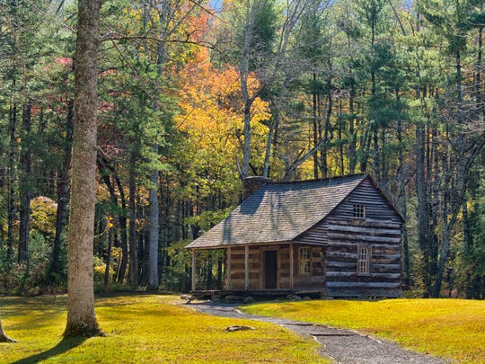 Cades Cove draws a crowd in the fall for good reason. Colors abound around Carter Shields Cabin.