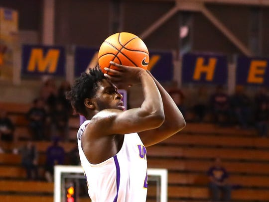 UNI freshman Tywhon Pickford has been a rebounding