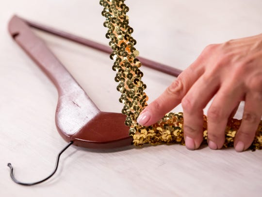 These hangers are sparkly and fun, using the ever-accessible