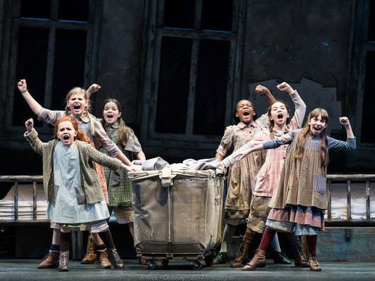 "Cast members performs in ""Annie"" at the Ordway Center for the Performing Arts."