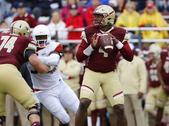 Former Middletown star Darius Wade, who started six games over four seasons at Boston College, is expected to be an immediate contender for the starting quarterback position after transferring to Delaware for his senior season.