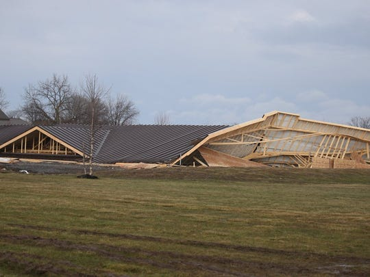 A building located at 2787 Lyons Road in the town of Geneva collapsed Tuesday afternoon.