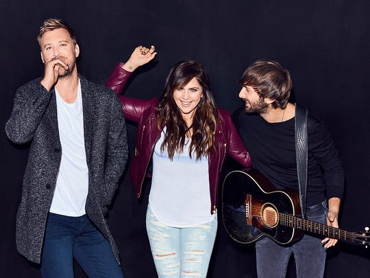 """Country trio Lady Antebellum, which includes former MTSU student Hillary Scott, center, is nominated in the best country duo/group performance and best country album categories for """"You Look Good"""" and """"Heart Break,"""" respectively, at the 60th annual Grammy Awards airing Sunday night, Jan. 28, from New York."""