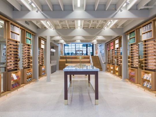 A peek inside the Warby Parker store in Nashville.