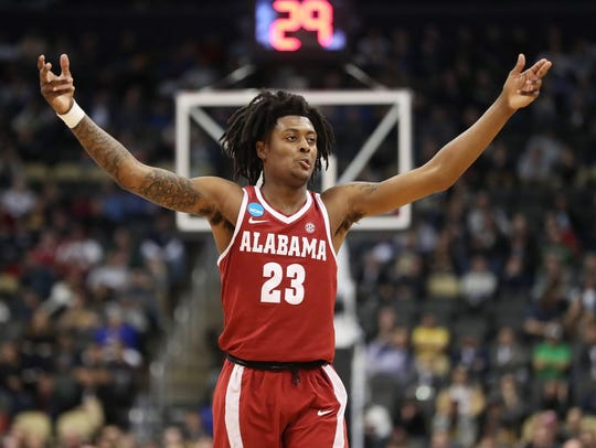 Alabama freshman John Petty connected on 6-of-8 threes